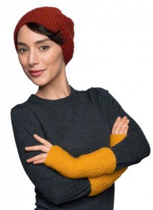 bonnet calanque & mitaines citronnier Bergère de France