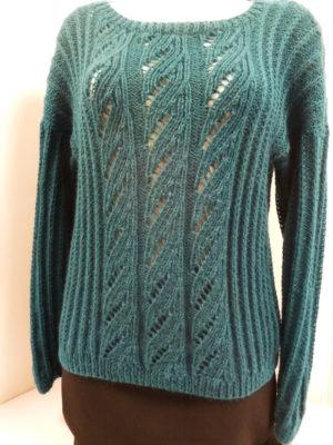 pull en Sweet Lace de KATIA coloris bleu vert