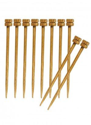 Lot de 10 mini aiguilles bois 6 cm Knit Pro
