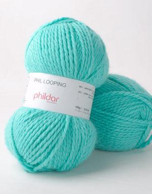 Looping de Phildar coloris Piscine