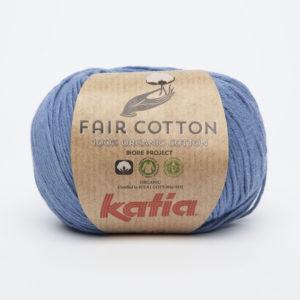 FAIR COTTON KATIA Coloris N°18 Bleu