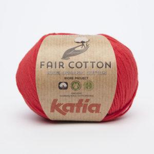FAIR COTTON KATIA Coloris N°04 Rouge