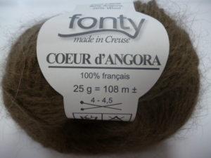 Cœur d'Angora de FONTY 100% Français Coloris N°228 Chocolat