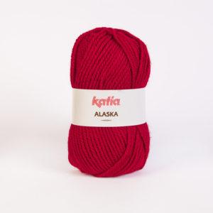 ALASKA N°11 de KATIA pelote de 100 g coloris Rouge Bordeaux