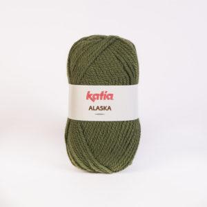 ALASKA N°17 de KATIA pelote de 100 g coloris Vert Kaki