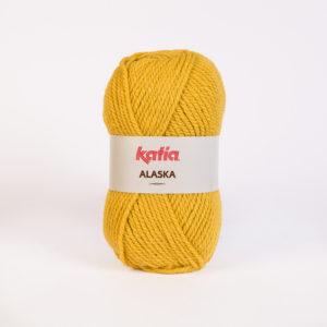 ALASKA N°18 de KATIA pelote de 100 g coloris Moutarde