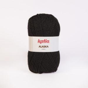 ALASKA N°02 de KATIA pelote de 100 g coloris Noir