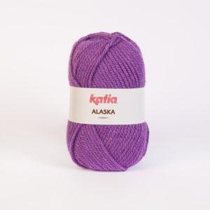 LOT de 11 Pelotes ALASKA N°21 de KATIA coloris Parme