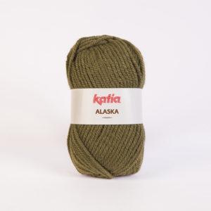 ALASKA N°32 de KATIA pelote de 100 g coloris Vert Kaki