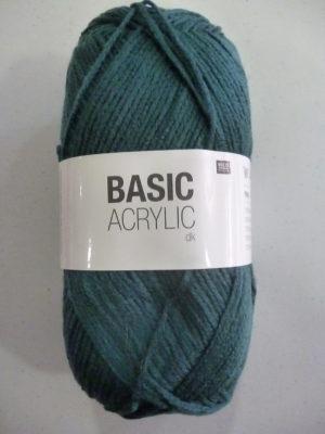 BASIC ACRYLIC DK de RICO DESIGN coloris 26 bleu canard