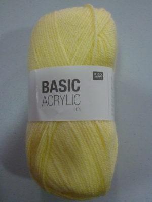 BASIC ACRYLIC DK de RICO DESIGN coloris 03 jaune