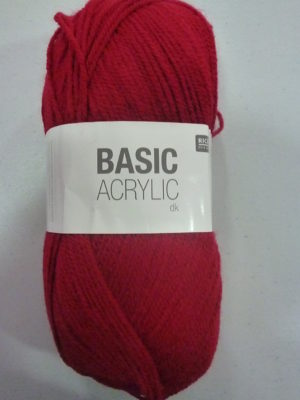 BASIC ACRYLIC DK de RICO DESIGN coloris 07 bordeaux
