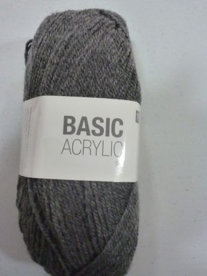 BASIC ACRYLIC DK de RICO DESIGN coloris 15 gris