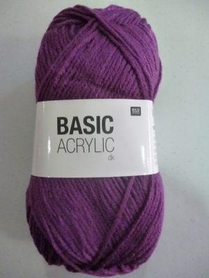 BASIC ACRYLIC DK de RICO DESIGN coloris 24 violet