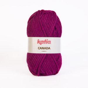 LOT de 10 Pelotes CANADA N°18 de KATIA coloris Aubergine