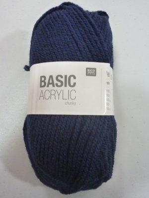 BASIC ACRYLIC chunky N° 07 de RICO DESIGN coloris bleu marine