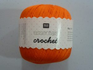 Coton Essentials Crochet N° 03 de RICO DESIGN coloris orange