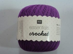 Coton Essentials Crochet N° 07 de RICO DESIGN coloris violet