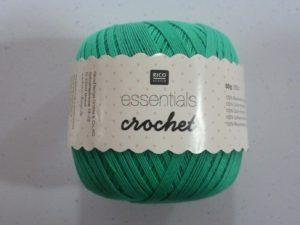 Coton Essentials Crochet N° 08 de RICO DESIGN coloris émeraude