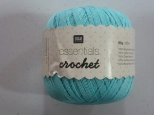 Coton Essentials Crochet N° 10 de RICO DESIGN coloris turquoise