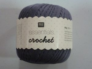 Coton Essentials Crochet N° 11 de RICO DESIGN coloris gris souris