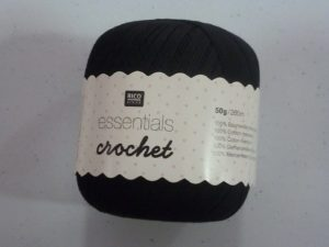 Coton Essentials Crochet N° 12 de RICO DESIGN coloris noir