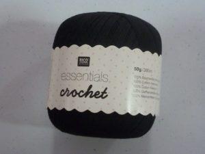 Coton Essentials Crochet N° 12 de RICO DESIGN coloris noir