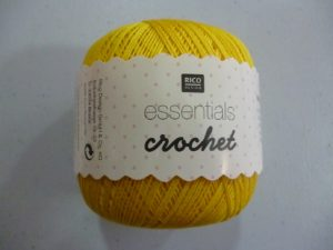 Coton Essentials Crochet N° 13 de RICO DESIGN coloris jaune