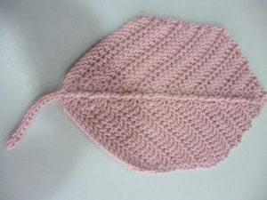 dessous de plat feuille en 100% coton coloris rose