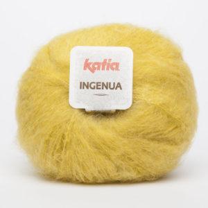 INGENUA N°47 de KATIA pelote de 50 g coloris Jaune Moutarde