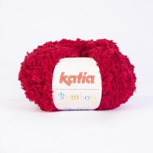 BOMBON N°219 de KATIA pelote de 50 g coloris Rouge