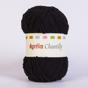 CHANTILLY N°02 de KATIA pelote de 50 g coloris Noir