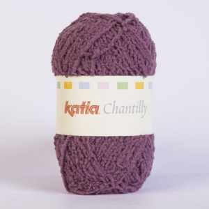 CHANTILLY N°71 de KATIA pelote de 50 g coloris Prune