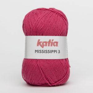 MISSISSIPPI 3 N°765 de KATIA pelote de 50 g coloris Fuchsia