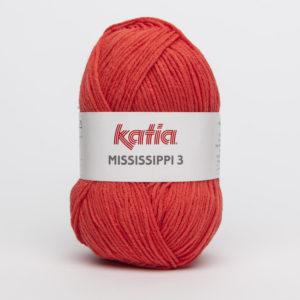 MISSISSIPPI 3 N°776 de KATIA pelote de 50 g coloris Rouge