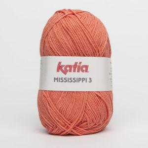 MISSISSIPPI 3 N°807 de KATIA pelote de 50 g coloris Saumon