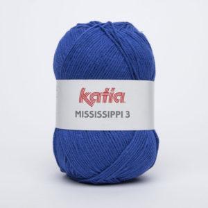 MISSISSIPPI 3 N°812 de KATIA pelote de 50 g coloris Bleu Roi