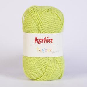 PEQUES N°84929 de KATIA pelote 50 g coloris Vert Anis