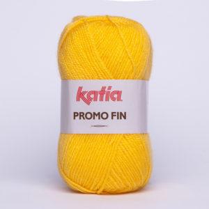 PROMO-FIN N°159 de KATIA pelote 50 g coloris Jaune Soleil