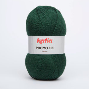 PROMO-FIN N°852 de KATIA pelote 50 g coloris Vert Foncé