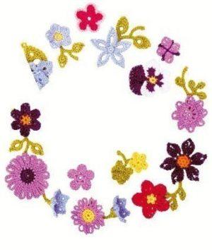 100 fleurs à crocheter Editions Le Temps Apprivoisé