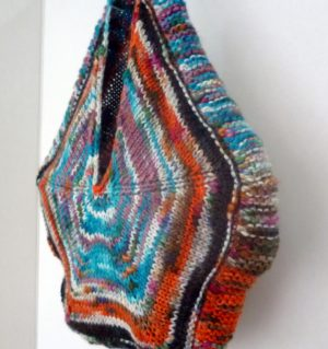 sac étoile en Tricotine coloris multicolore