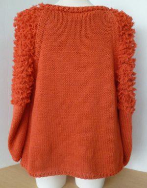 gilet orange avec des manches à petits volants en Gémini