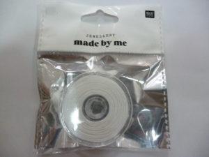 Fil Macramé pour Perles ou Bracelets Brésiliens Blanc