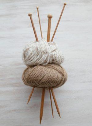 Aiguilles à tricoter droites 33 cm en bambou
