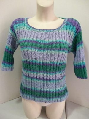 pull manches courtes en Alabama Color coloris multicolore