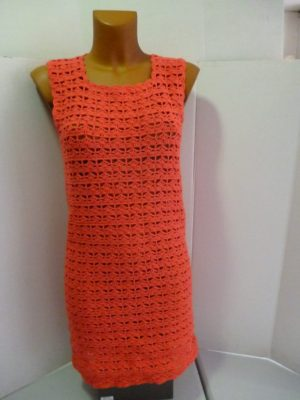 robe au crochet en Mississippi 3 coloris corail