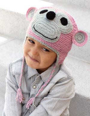 Bonnet singe explication au tricot de Katia