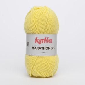 MARATHON 3.5 N° 16 de KATIA pelote 50 g coloris Jaune