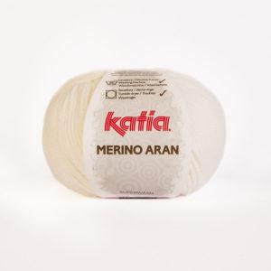 Merino Aran N°01 de KATIA pelote de 100 g coloris Blanc